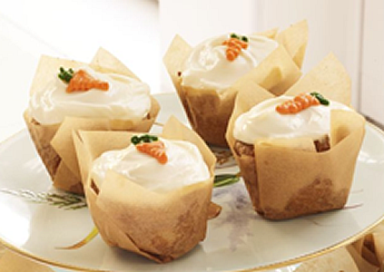 Carrot Cupcakes with Honey Cream Cheese