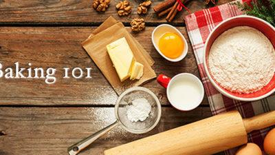Baking 101 Workshop, $49